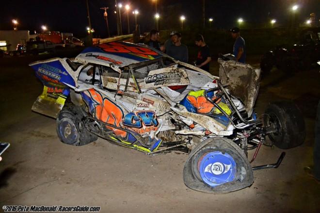 Jamie Mills Survives Fiery Bridgeport Speedway Wreck On