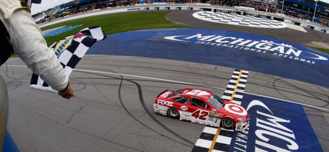Larson \'Parks It\' in Michigan Victory Lane :Racers Guide – The Web\'s ...